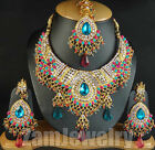 Gold Toned Jewellery Designs Showy Necklace Sets Vareied Colors