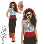 Adult Ladies Senorita Costume Day of the Dead Fancy Dress Halloween Outfit New