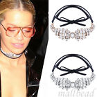 New Celebrity Women Rhinestone Crystal Choker Necklace Collar Chunky Jewelry