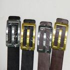 Mens Real Genuine Leather High Quality Stylish Jeans Trouser Waist Belt Business