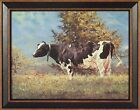 BABE by Bonnie Mohr 15x19 FRAMED PRINT Holstein Cow Cattle Pasture PICTURE