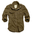 SURPLUS VINTAGE ARMY MILITARY TACTICAL COMBAT LONG SLEEVE BROWN SHIRT BDU TOP
