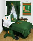 Miami Hurricanes Comforter Sham Curtains Valance Twin Full Queen LR