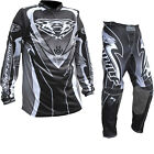 Wulf Attack Motocross MX Jersey & Pants Adult Black Kit Off Road Enduro Dirt Set