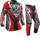 Wulf Attack Adult Off Road Motocross MX Jersey & Pants Red Kit Enduro Adventure