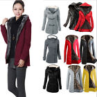Winter Women\'s Windbreaker Outwear Warm Hooded Wool Slim Long Coat Jacket Trench