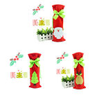 Wine Bottle Cover Red Wine Bags with Pretty Tie Christmas Gift Bags Set