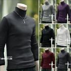 New Fashion Men's Turtle Neck Knitted Shirt Slim Fit Long Sleeve Casual Sweaters