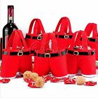 2 Sizes Xmas Gift Bag Red Santa Pants Treat Candy Bags for Christmas Decor