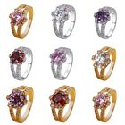 New Women Jewelry Silver Plated Wedding Engagement Ring Gift