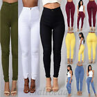 Women Skinny Stretch Denim Slim High Waist Trousers Leggings Jeans Pants Casual