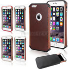 FE ALLOY ALUMINUM METAL WOOD LEATHER PROOF PROTECTIVE BUMPER CASE FOR IPHONE 6
