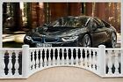 Huge 3D Balcony Bmw I8 Super Car Wall Stickers Film Decal Mural 1119