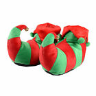 Unisex Adult Red & Green Elf Santas Little Helper Christmas Novelty Slippers
