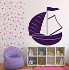 Vinyl Decal dinghy sailing boat yacht water sports Wall Sticker (n566)