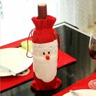 Xams Santa Claus Red Wine Bottle Cover Bags for Home Party Christmas Decorations
