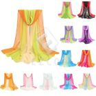 New Women's Gardient Color Soft Shawls Stole Chiffon Wrap Scarf 160*50cm CAWJ180