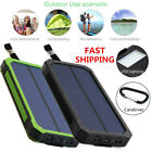 DUAL USB SOLAR POWER BANK 100000MAH PORTABLE EXTERNAL BATTERY CHARGER FOR PHONE