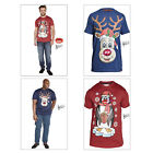 Duke D555 Jolly Mens 3D Nose Penguin Rudolph Music Player Christmas Cotton Tees