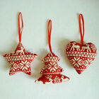 1/ 3pcs Christmas Tree Decoration Xmas Holiday Party Hanging Ornament Decor BE