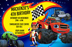 Personalised Blaze and the Monster Machines Birthday Party Invites inc envelopes
