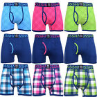 Crosshatch Mens Tartastic Designer Underwear Trunks Boxer Shorts Pack Of 3