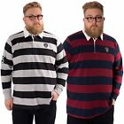 Mens Plus Size Long Sleeved Rugby Polo Shirt Collared Top L&F  Sizes 2XL - 5XL