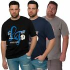 Mens Plus Size Casual Short Sleeved T-shirt Printed Tee Top L&F Sizes 2XL- 5XL