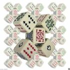 "Poker Dice Ivory Color 16mm 5/8"" 6-Sided Card Symbols A K Q J 10 9 NEW Sealed"