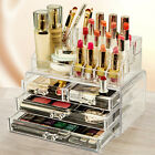Clear Cosmetic Organizer Acrylic Makeup Case Jewelry Display Box Storage Drawers