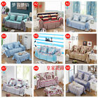 Removable 100% Cotton Sofa Couch Cover Pet Protector For 1 2 3 4 Seater Washable