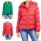 Brave Soul Hopp Womens Padded Jacket New Ladies Detachable Hood Quilted Coat