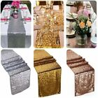 """12""""x108"""" Gold Silver Sequin Table Runner Wedding Party Decor Table Decoration"""