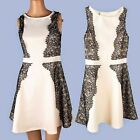 2015 New Floral Lace Pleats Womens Sleeveless A-line Cocktail Party Mini Dress