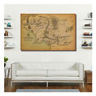 W0003 Map Of Middle Earth Lord Of The Rings Tiny Letter Unreadable Movie Poster