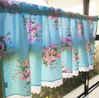 Country Style French Provincial Home Kitchen Blue/Red Rose Cafe Curtain