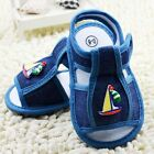 Infant Baby boy classic Soft-soled shoes Sandals blue size 0-6 6-12 12-18 months