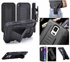 Tough Heavy Armor Stand Case W/Belt Hook Clip For Samsung S6, S7, Nexis, Apple i