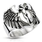 New Stainless Steel Winged Goddess Archangel Men's Ring - Size 9-13