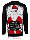 Mens Womens Unisex Santa Police Department Xmas Knitted Jumper Sweater