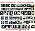 Glitter tattoo stencils x 50 facepainting Top up ur glitter tattoo kit christmas