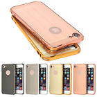 Slim Thin Brush Metal Frame Hard Case PC Back Cover Protect For iPhone 7/7 Plus