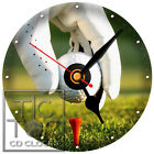 S-822 CD CLOCK-GOLF BALL-GREAT GIFT FOR THE GOLFER-DESK OR WALL-HOME OR OFFICE
