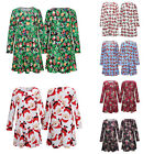 Fashion Women Dress Long Sleeve Christmas Polyester Charming Plus Size One Piece
