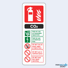 CO2 Fire Extinguisher ID Sign