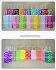 Polka Dot Kraft Paper Bag Party Food Wedding Favor Gift Candy Packaging Bags S