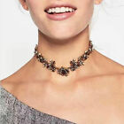 Luxury Flower Charm Crystal Rhinestone Choker Bib Necklace Jewelry Chunky collar