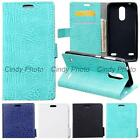 "For ZTE Blade X5 D3 5"" Case Flip Cover Wild Crocodile PU Leather Card Slot"