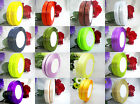 """50 yds 3/8""""(9mm) Solid Color Single Side Wedding Party Craft Satin Ribbons"""