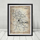 The Walking Dead Terminus Map Replica Prop Negan Daryl Rick Gift Print Series TV